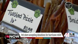 Pet store holds grand opening with hurricane relief fundraiser - Video