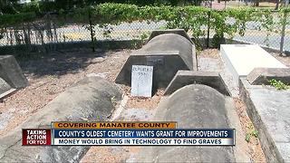 Historical cemetery to use tech. to find graves - Video