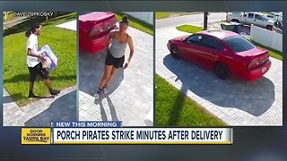 Tampa Police looking for West Tampa porch pirates who stole diapers - Video