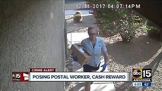 Cash reward being offered for information about woman posing as postal worker - Video
