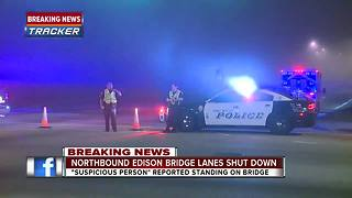Report of suspicious person shuts down Edison bridge - Video
