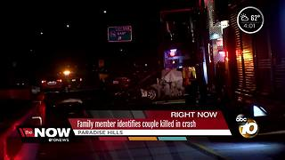 Family member identifies couple killed in crash - Video