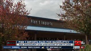 Pier 1 Imports files for bankruptcy