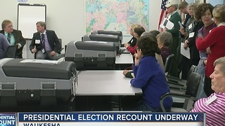 Presidential election recount underway in Waukesha County - Video