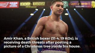 Muslim Boxer Amir Khan Receives Death Threats For Setting Up Christmas Tree - Video