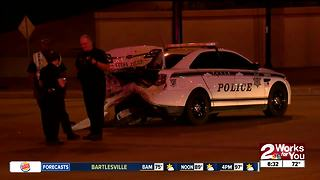 Driver slams into Tulsa Police cruiser - Video