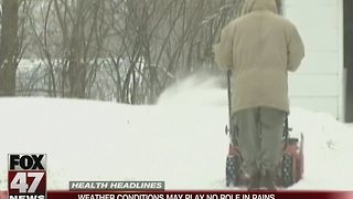 Weather conditions may play no role in pains - Video