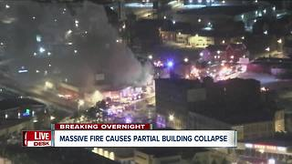 Massive fire caused Buffalo building to collapse - Video