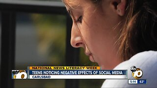 Teens noticing the negative effects of too much social media