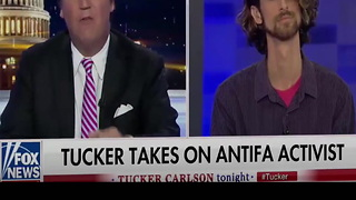 Tucker Carlson Interviews Antifa Professor - Video