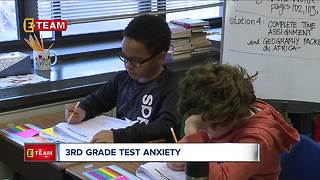 Third grade teacher helps students de-stress ahead of  state testing - Video