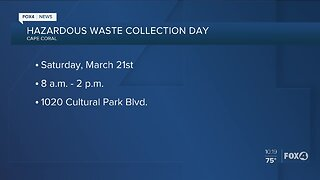 Hazardous waste collection day Cape Coral
