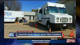 Disaster relief charity cooking meals during teacher walkout - Video