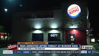 Man arrested after threat at Burger king - Video