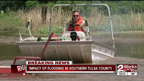 Impact of flooding in southern Tulsa County
