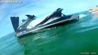 Orange County Deputy Rescues Man Thrown From Jetski - Video