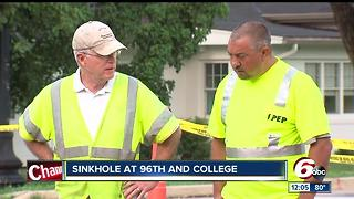 PHOTOS: North side traffic delayed due to large sinkhole - Video