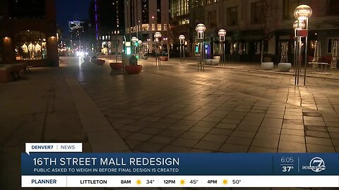 Public asked to weigh in on 16th Srteet Mall changes