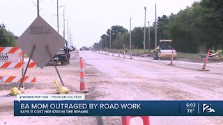Broken Arrow mom outraged by road work