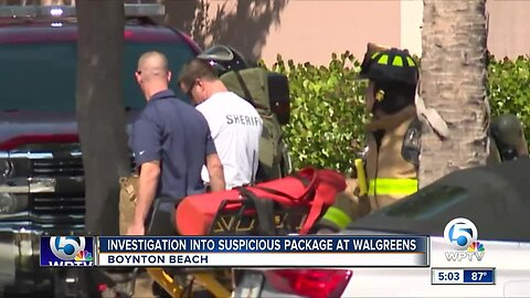 Police clear scene after suspicious package found in Boynton Beach
