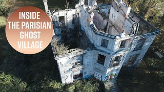We took a drone through an abandoned French town - Video