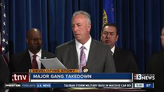 Multiple Vegas gang members indicted, one still being sought - Video