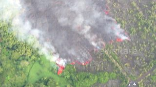 Stunning aerial footage shows devastation from Hawaii volcano - Video