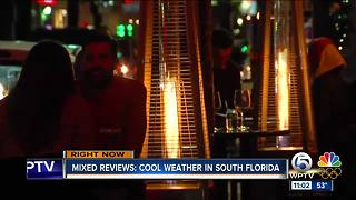 Mixed reviews on cool weather in South Florida - Video