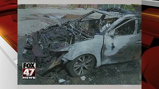 Woman's phone caught fire while she drove