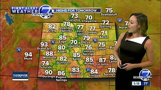 Much cooler weather settles into Colorado through Tuesday