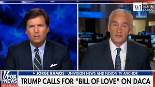 Tucker Carlson Debates Jorge Ramos (1) - Video