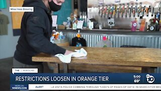 Restrictions loosen for San Diego County in orange tier