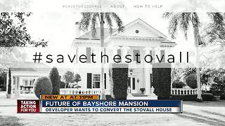 Fight over future of historic Stovall mansion on Bayshore heats up as new site plans are filed - Video