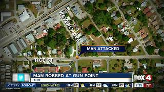 Man robbed at gunpoint outside Tice Elementary School - Video