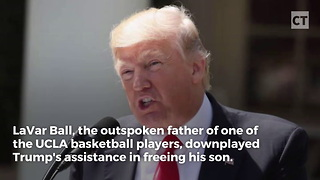 Trump Fires Shots at UCLA Player's Father - Video