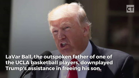 Trump Fires Shots at UCLA Player's Father