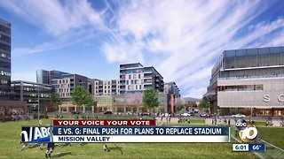 E vs. G: Final push for plans to replace stadium - Video