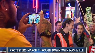 Inauguration Protesters March Through Downtown Nashville - Video