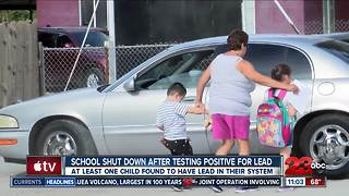 School shut down after testing positive for lead