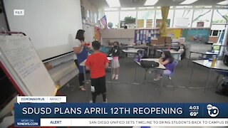 San Diego Unified plans April 12 reopening