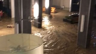 Heavy Rain Floods Montego Bay Hotel Lobby - Video