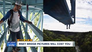 Summit Metro Parks cite High Level Bridge climbers - Video