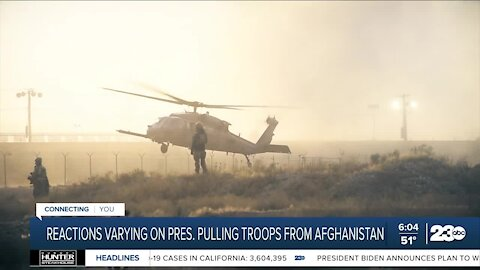 Reactions varying on president pulling troops out of Afghanistan