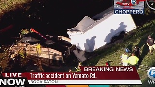 Traffic accident on Yamato Road delays traffic in Boca - Video