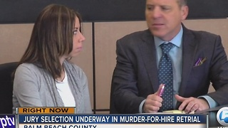 Jury selection underway in murder-for-hire retrial - Video