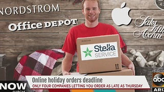 Shopping online for Christmas? Here are the deadlines you need to know about - Video