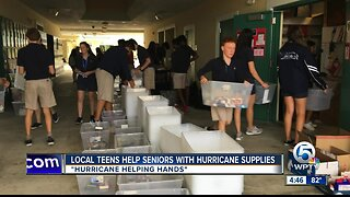 Local teens helping low-income seniors with hurricane supplies