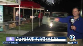 All-day 'Food For Families' drive in Boca Raton - Video