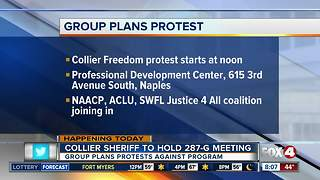 Group plans protest ahead of meeting for 287-G program - Video