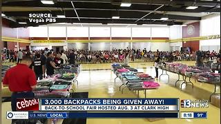 Marianas Supermarket and Vegas PBS give away 3,000 backpacks to Las Vegas families - Video